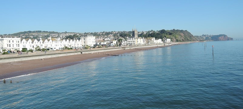 Photo of the seaside at Devon.