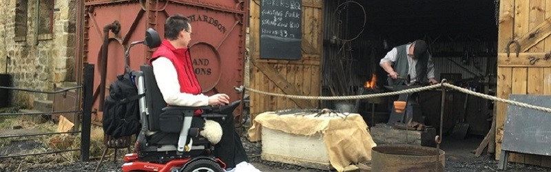 Photo of Paul Ralph at the Beamish Museum.