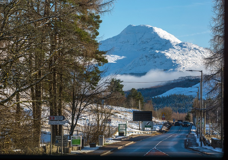 Photo of Tyndrum in the snow.