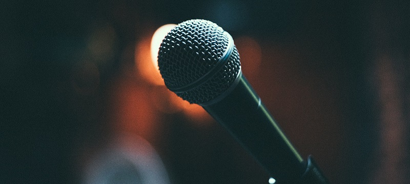 Photo of a microphone.