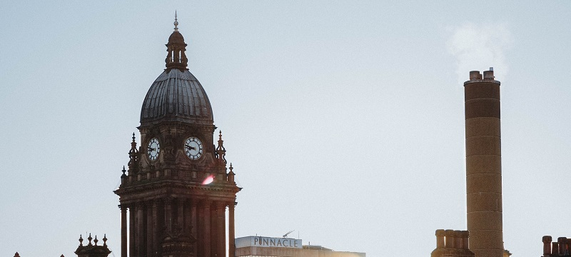 Photo of Leeds skyline.