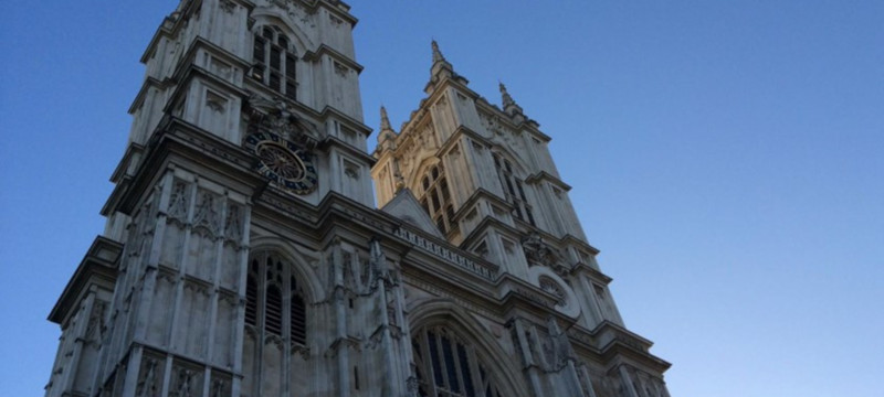 Photo of Westminster Abbey towers.