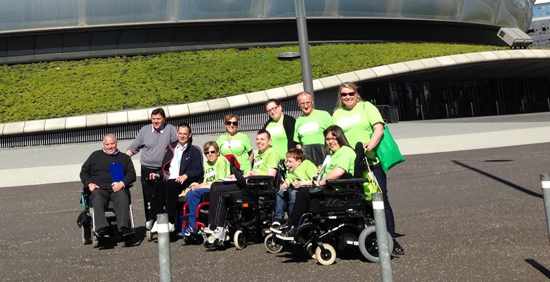 A photo of the Euan's Guide and Whizz Kidz team.