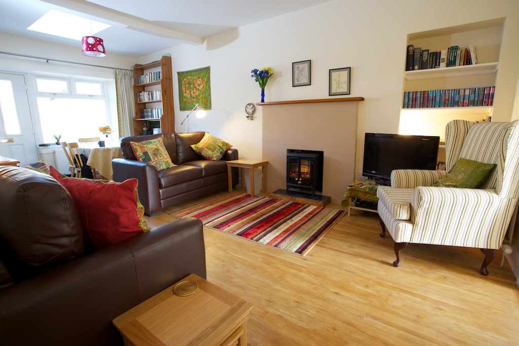 The living room of Cosaig Self Catering.