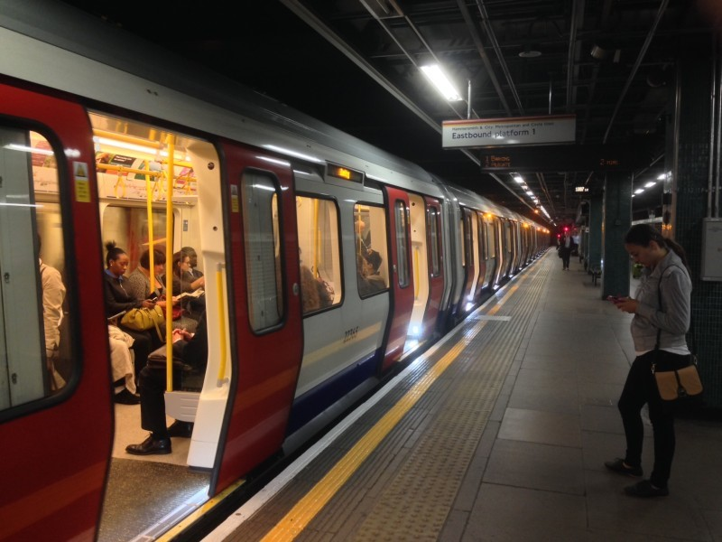A photo of the London Underground.