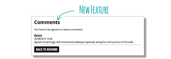 An illustration of the new comments feature.