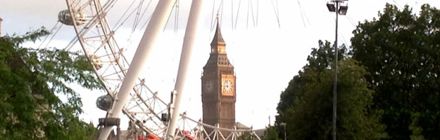 A photo of the London Eye