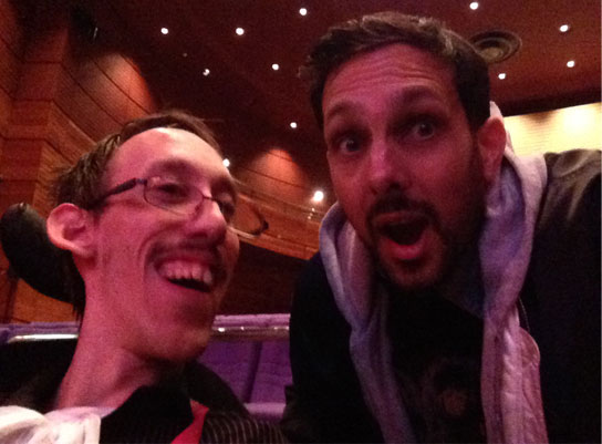 A photo of Tom and Dynamo