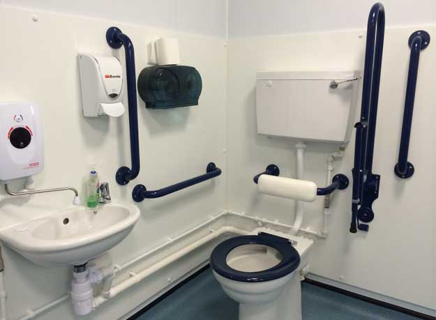 Photo of an accessible toilet in a portacabin