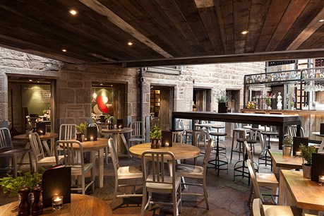 Indigo Yard Edinburgh restaurant area.