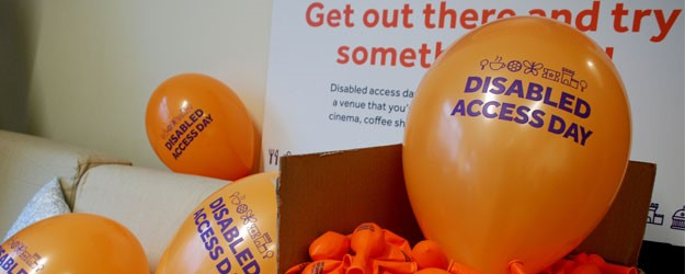 A photo of the promotional material for Disabled Access Day.