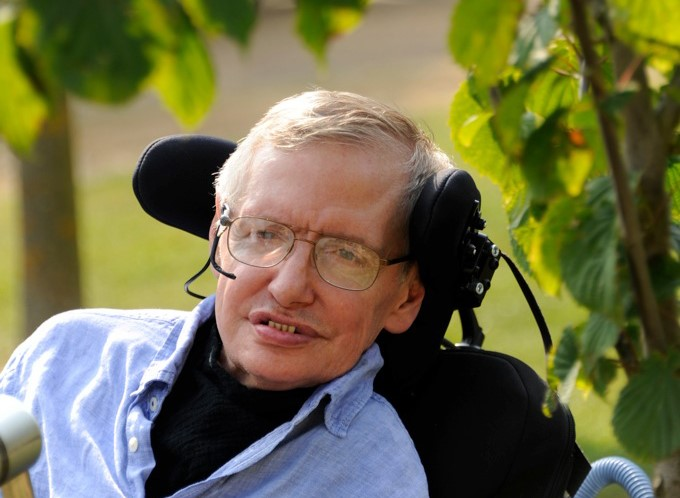 A photo of Stephen Hawking.