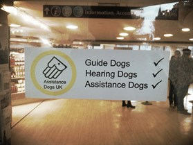 Assistance Dogs Sign