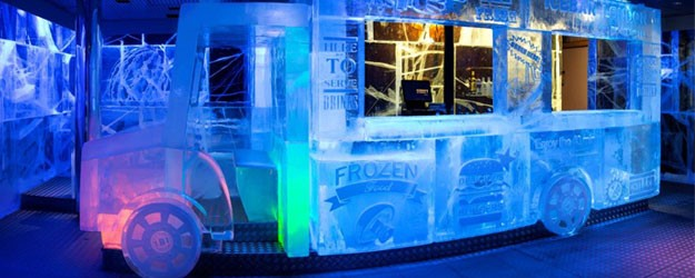 A photo of an ice bar in London.