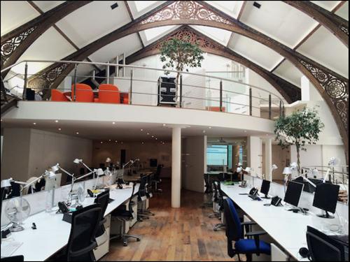 Photo showing interior of Creative Exchange.