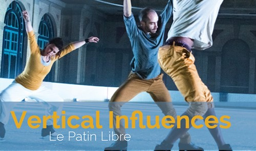 Flyer for Vertical Influences showing dancing figure-skaters.