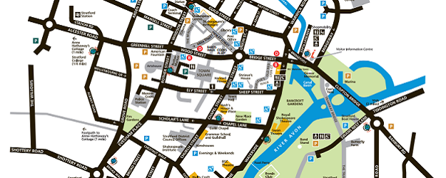 Stratford England Map.Mapping Shakespeare S England Euan S Guide