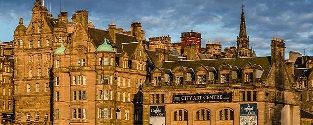 Photo of Old Town in Edinburgh.