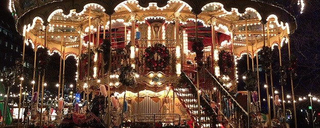 Photo of a carousel.