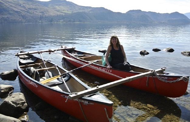 Photo of canoes.