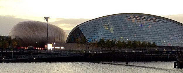 Photo of Glasgow Science Centre.