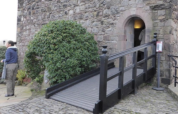 Photo of a ramp at Edinburgh Castle.