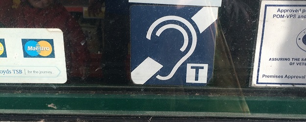 Photo of a hearing loop symbol.
