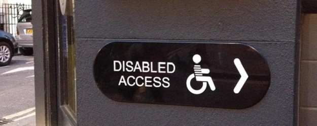 Photo of disabled access signage.
