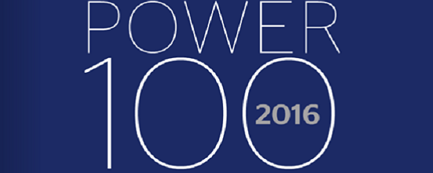 Power 100 logo.
