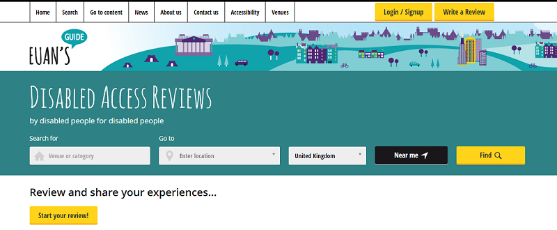 Screenshot of Euan's Guide homepage.