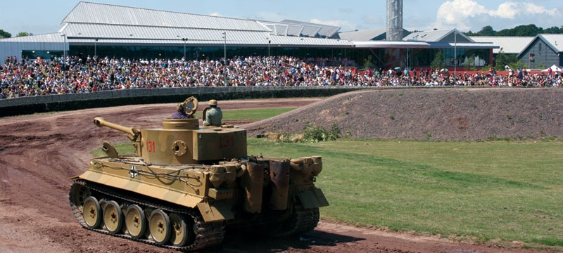 Photo of a tank and audience.