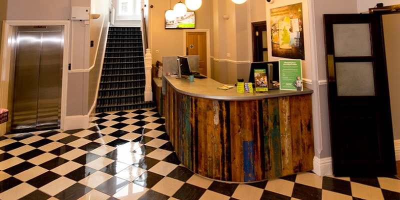 Photo of the lobby at YHA Birmingham.