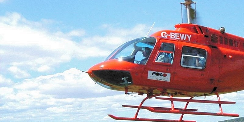Photo of a helicopter.