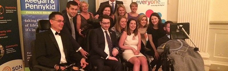 Photo of winners at the Scottish Charity Awards.