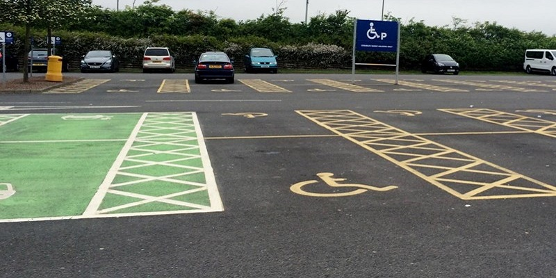 Photo of accessible parking bays.