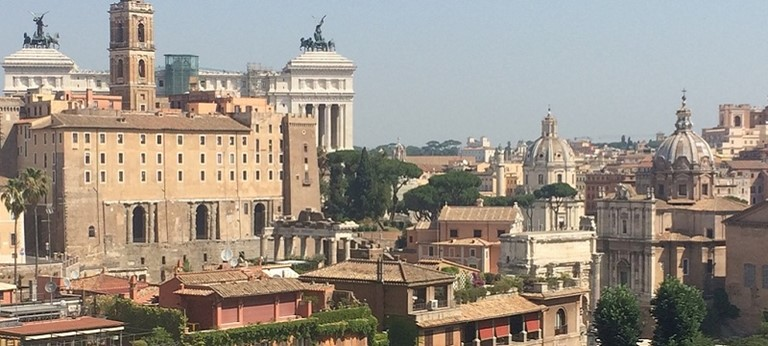 Photo of Rome's skyline.
