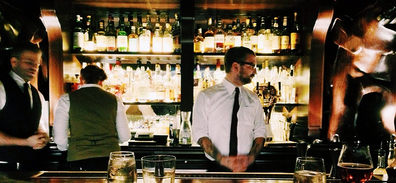 Photo of bartenders.