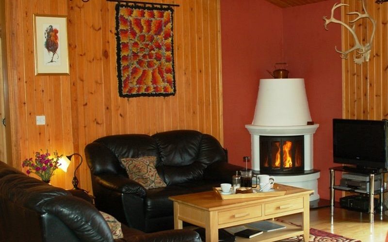 Photo of the sitting room in The Hytte.