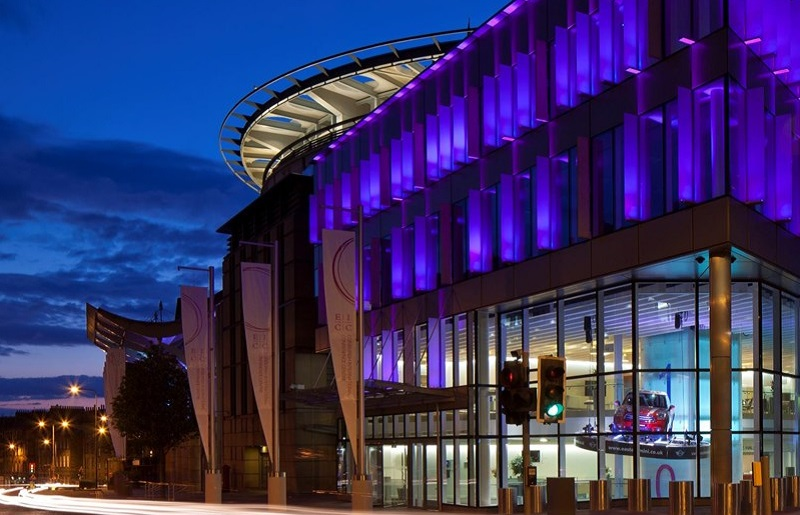 Photo of the Edinburgh International Conference Centre.