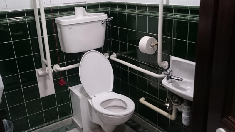Photo of an accessible toilet.
