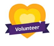 Photo of volunteer badge.