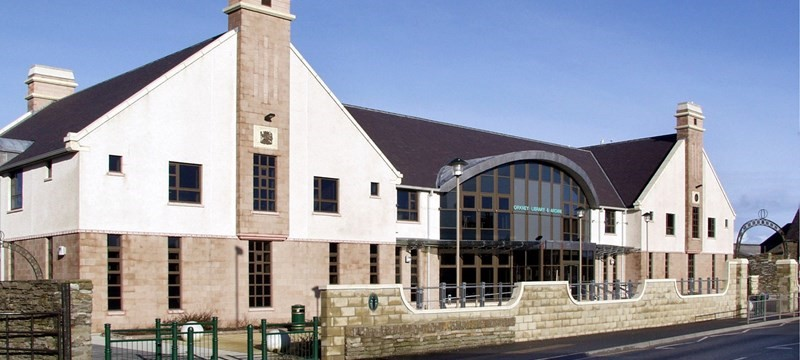 Photo of Orkney Library.