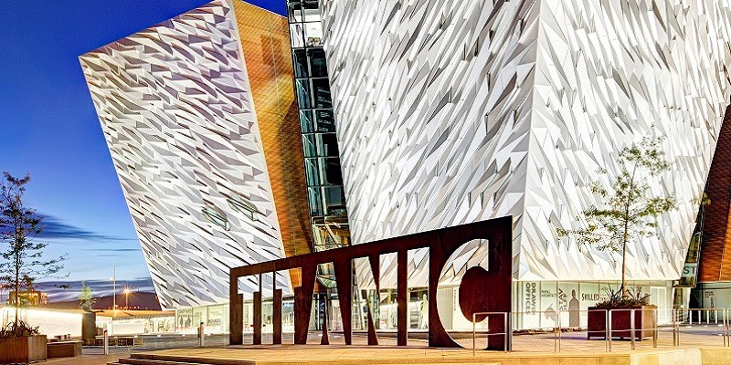 Titanic Belfast exterior.