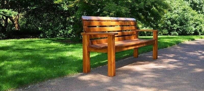 Garden bench.