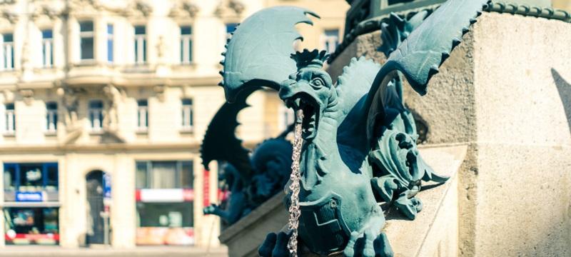 Fountain in Vienna.