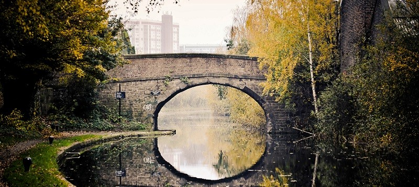 A park bridge in Sheffield.