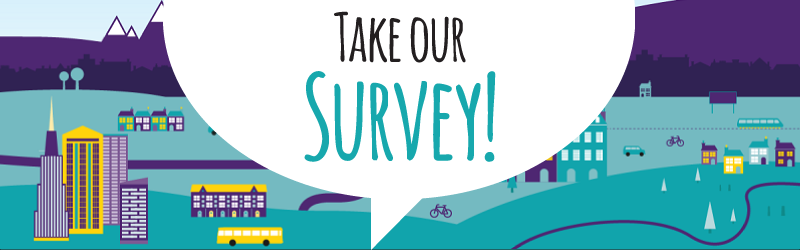 """Take our survey"" image."